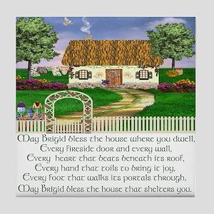 Irish House Blessing Tile Coaster