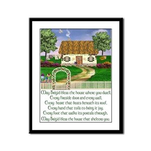 Irish House Blessing Framed Print