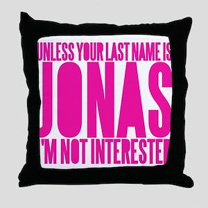Only A Jonas Bro. Throw Pillow