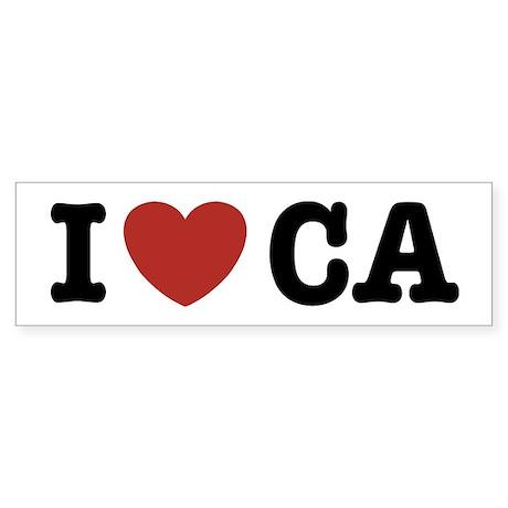 I Love CA Bumper Sticker