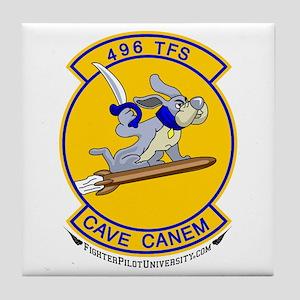 496th TFS World's Finest. Tile Coaster