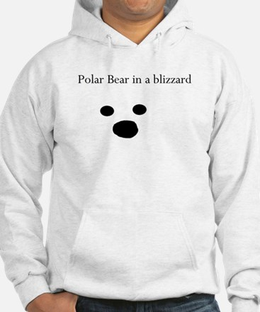 Polar Bear in a blizzard Hoodie