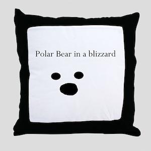 Polar Bear in a blizzard Throw Pillow