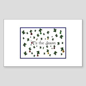 'Tis the Season Rectangle Sticker