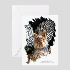 Wild Yorkie Thanksgiving Dog Greeting Card