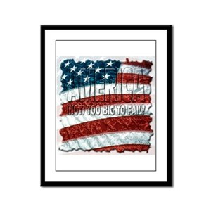 America (not) too big to fail Framed Panel Print