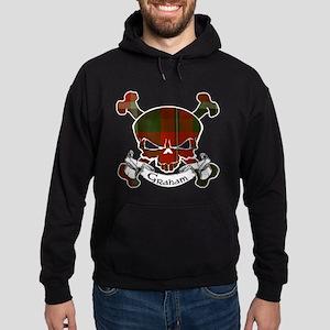 Graham Tartan Skull Hoodie (dark)