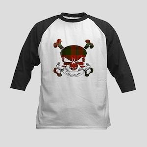 Graham Tartan Skull Kids Baseball Jersey