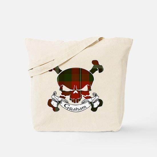 Graham Tartan Skull Tote Bag