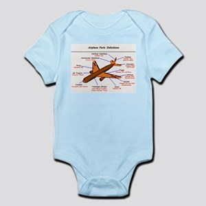 Airplane Parts Infant Creeper