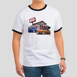 Dodge Challenger Gas Station Scene Ringer T