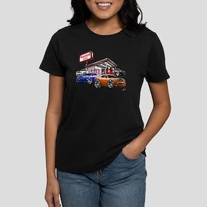 Dodge Challenger Gas Station Scene Women's Dark T-