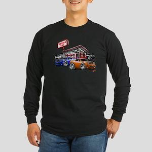 Dodge Challenger Gas Station Scene Long Sleeve Dar
