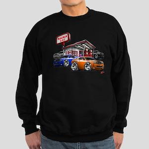 Dodge Challenger Gas Station Scene Sweatshirt (dar
