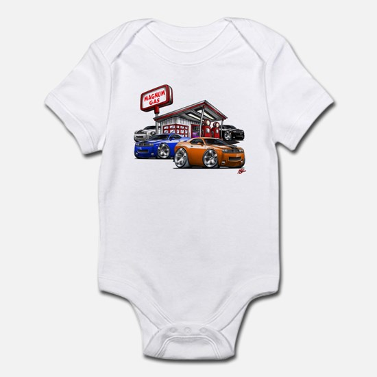 Dodge Challenger Gas Station Scene Infant Bodysuit