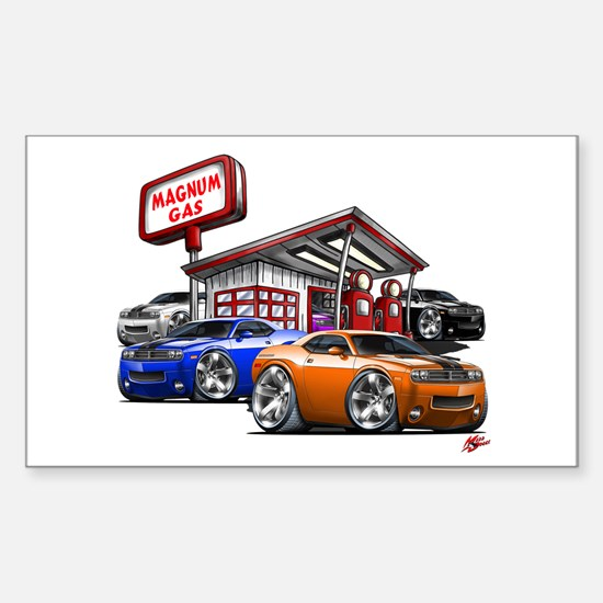 Dodge Challenger Gas Station Scene Decal