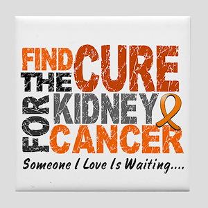 Find The Cure 1 KIDNEY CANCER Tile Coaster