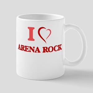 I Love ARENA ROCK Mugs
