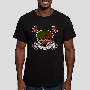 Grant Tartan Skull Men's Fitted T-Shirt (dark)