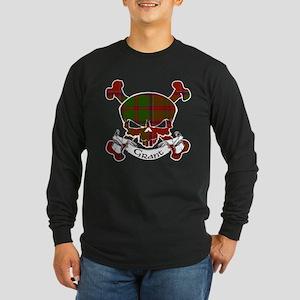Grant Tartan Skull Long Sleeve Dark T-Shirt