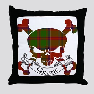 Grant Tartan Skull Throw Pillow
