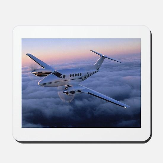 King Air in Flight Mousepad