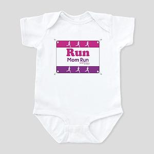 Race Bib Run Mom Infant Bodysuit
