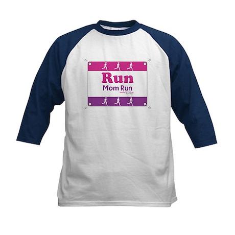 Race Bib Run Mom Kids Baseball Jersey