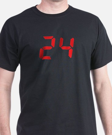 24 twenty-four red alarm cloc T-Shirt