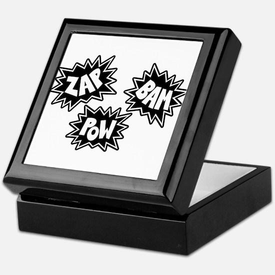 Comic Sound FX - Black & White - Keepsake Box