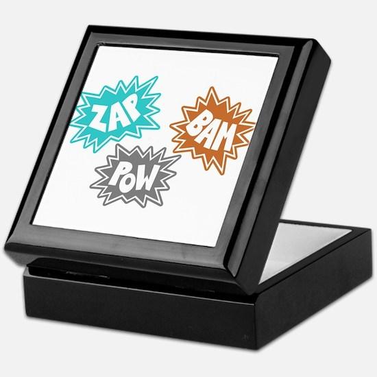 Comic Sound FX - Blue Orng Grey Keepsake Box