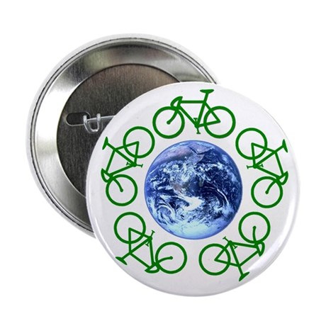 "Bicycles Around the Globe 2.25"" Button"
