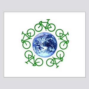Bicycles Around the Globe Small Poster