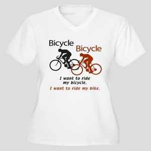 Bicycle Bicycle Women's Plus Size V-Neck T-Shirt