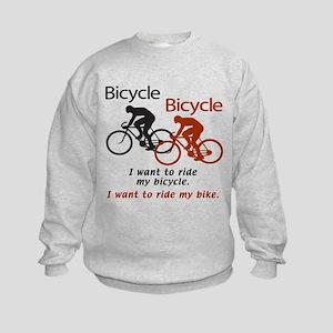 Bicycle Bicycle Kids Sweatshirt