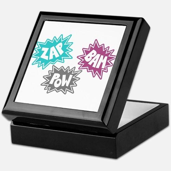 Comic Sound FX - Blue Pink Grey Keepsake Box