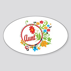 Wonderful Aunt Oval Sticker