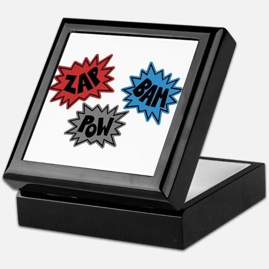 Comic Sound FX - Blue Red Grey Keepsake Box