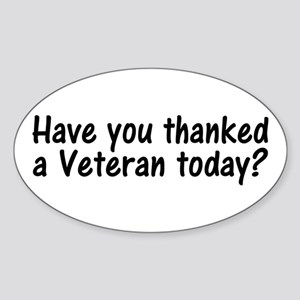 Thank You Veterans Oval Sticker