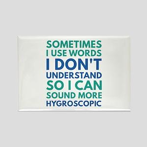 Sometimes I Use Words Rectangle Magnet