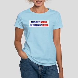 Enduring Freedom Women's Pink T-Shirt