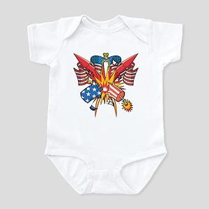 American Fireworks Infant Bodysuit