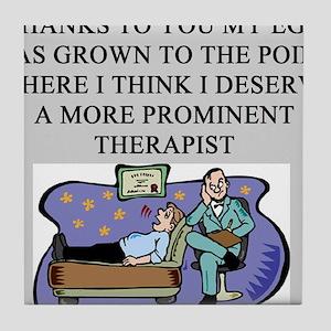funny psychology psychiatrist Tile Coaster