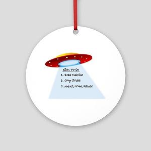 UFO To Do Ornament (Round)