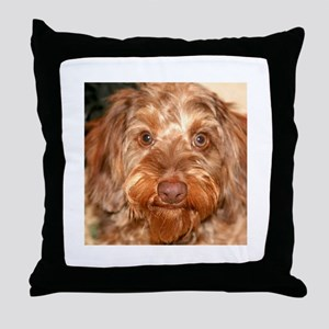 Red Wire Throw Pillow