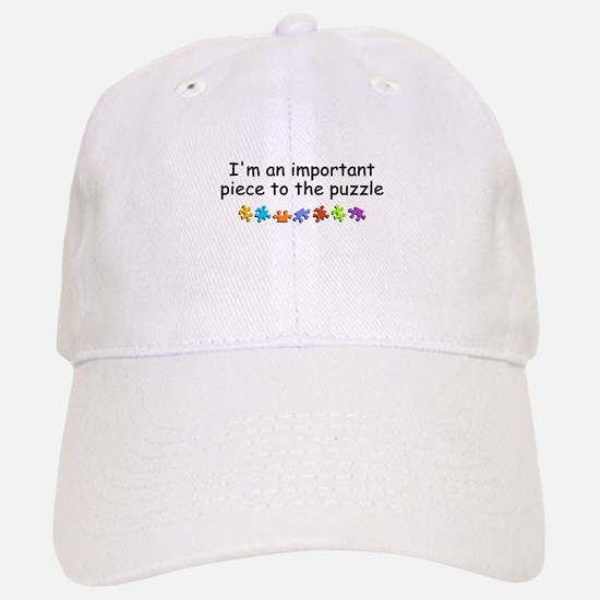 Im An Important Piece To The Puzzle Baseball Baseball Cap