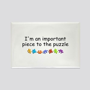 Im An Important Piece To The Puzzle Rectangle Magn