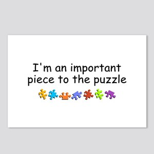 Im An Important Piece To The Puzzle Postcards (Pac