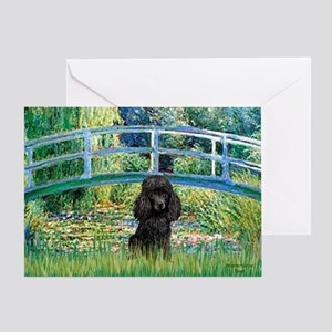 Bridge / Poodle (Black) Greeting Card