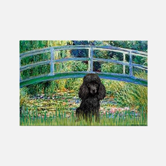 Bridge / Poodle (Black) Rectangle Magnet